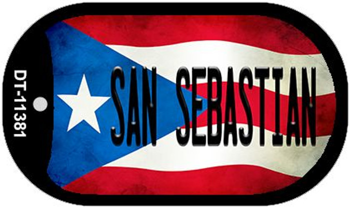 San Sebastian Puerto Rico State Flag Wholesale Novelty Metal Dog Tag Necklace DT-11381