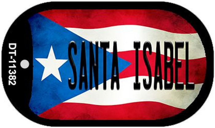 Santa Isabel Puerto Rico State Flag Wholesale Novelty Metal Dog Tag Necklace DT-11382