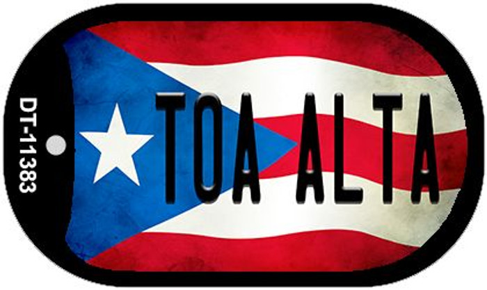 Toa Alta Puerto Rico State Flag Wholesale Novelty Metal Dog Tag Necklace DT-11383