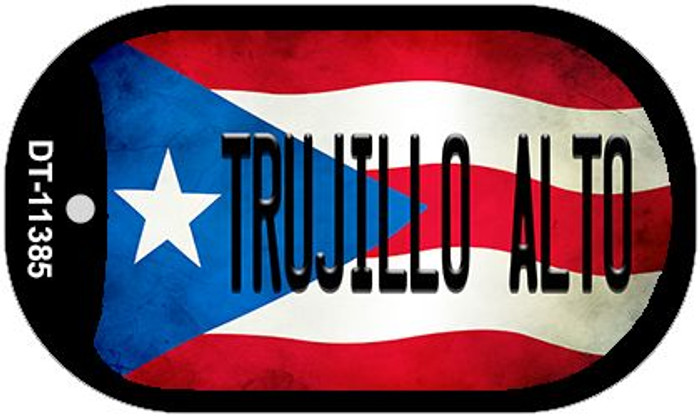 Trujillo Alto Puerto Rico State Flag Wholesale Novelty Metal Dog Tag Necklace DT-11385