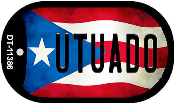 Utuado Puerto Rico State Flag Wholesale Novelty Metal Dog Tag Necklace DT-11386