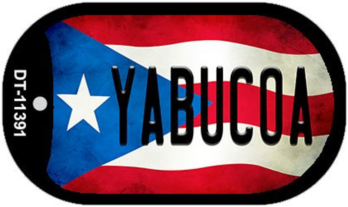 Yabucoa Puerto Rico State Flag Wholesale Novelty Metal Dog Tag Necklace DT-11391