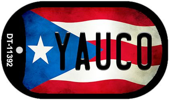 Yauco Puerto Rico State Flag Wholesale Novelty Metal Dog Tag Necklace DT-11392
