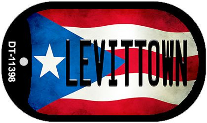 Levittown Puerto Rico State Flag Wholesale Novelty Metal Dog Tag Necklace DT-11398