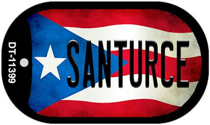 Santruce Puerto Rico State Flag Wholesale Novelty Metal Dog Tag Necklace DT-11399