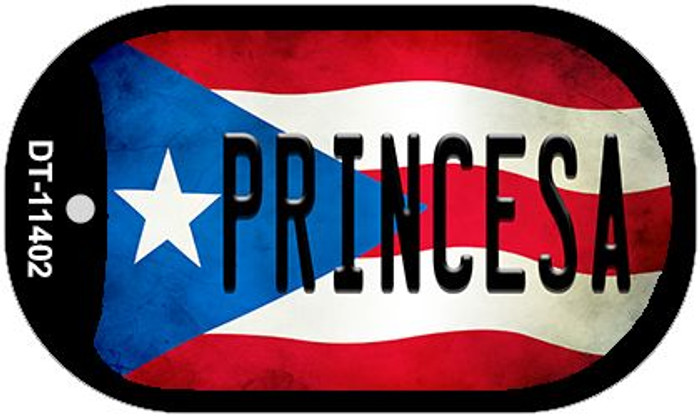 Princesa Puerto Rico State Flag Wholesale Novelty Metal Dog Tag Necklace DT-11402