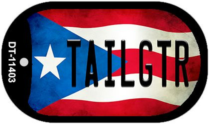 Tailgtr Puerto Rico State Flag Wholesale Novelty Metal Dog Tag Necklace DT-11403