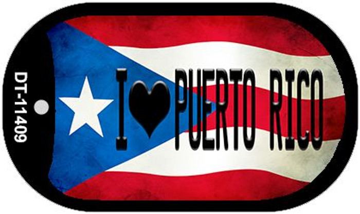I Love Puerto Rico Puerto Rico State Flag Wholesale Novelty Metal Dog Tag Necklace DT-11409