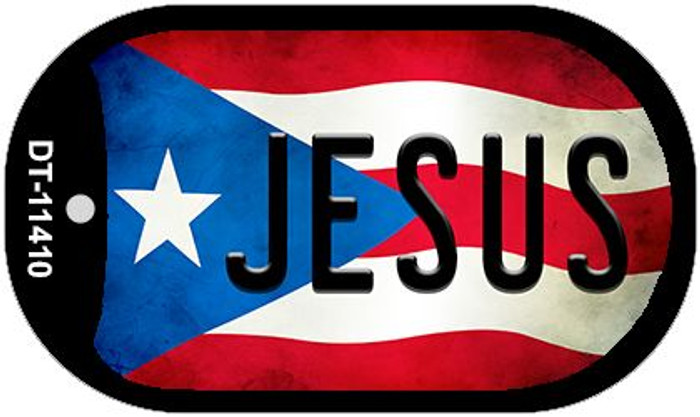 Jesus Puerto Rico State Flag Wholesale Novelty Metal Dog Tag Necklace DT-11410