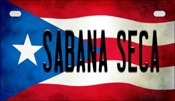 Sabana Seca Puerto Rico State Flag Wholesale Novelty Metal Motorcycle Plate MP-11760