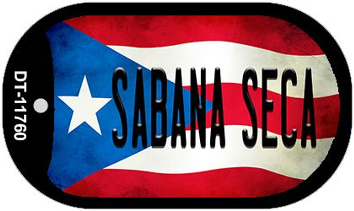 Sabana Seca Puerto Rico State Flag Wholesale Novelty Metal Dog Tag Necklace DT-11760