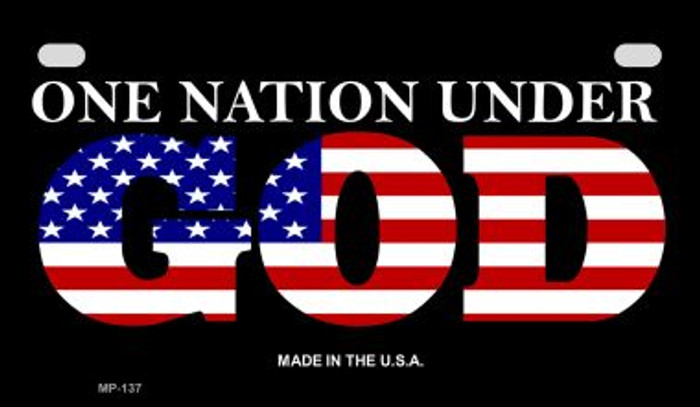 One Nation Under God Wholesale Novelty Metal Motorcycle Plate MP-137