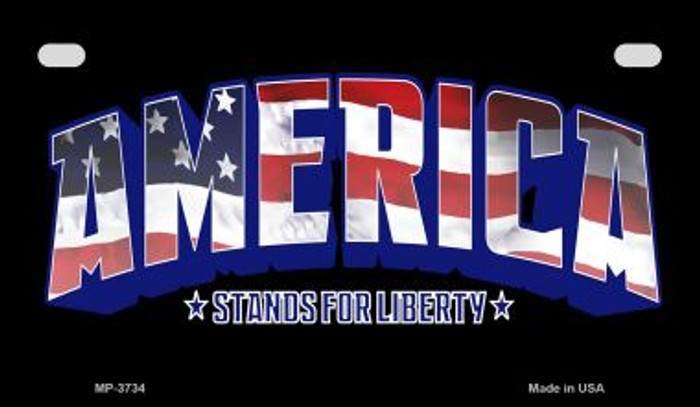Stands For Liberty Wholesale Novelty Metal Motorcycle Plate MP-3734