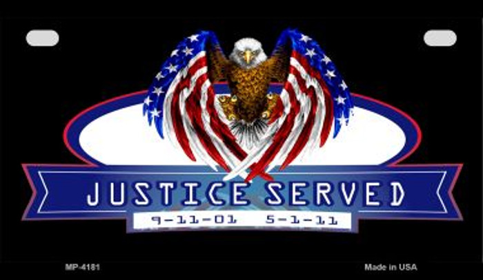 Justice Served Wholesale Novelty Metal Motorcycle Plate MP-4181