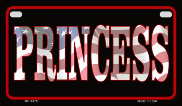 American Princess Wholesale Novelty Metal Motorcycle Plate MP-1475