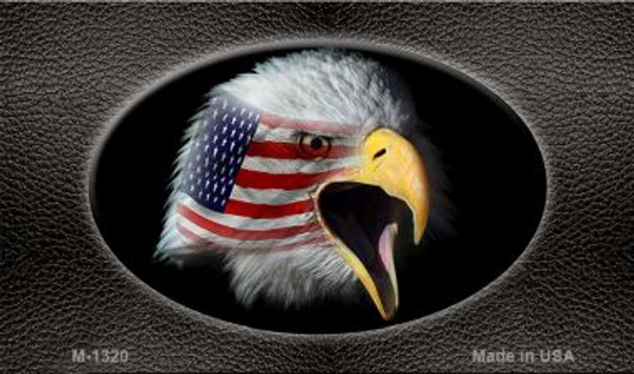American Eagle Black Wholesale Novelty Metal Magnet M-1320