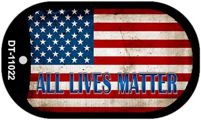 All Lives Matter Wholesale Novelty Metal Dog Tag Necklace DT-11022