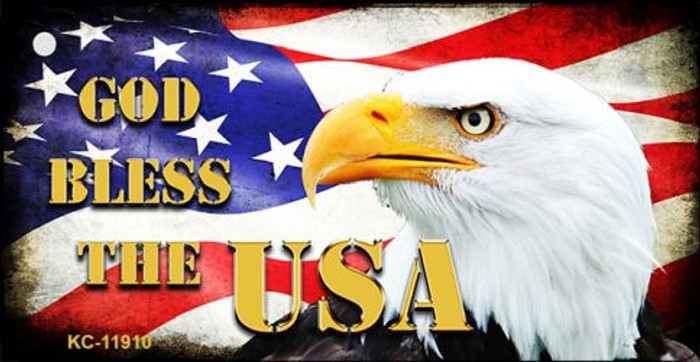 God Bless The USA Wholesale Novelty Metal Key Chain KC-11910