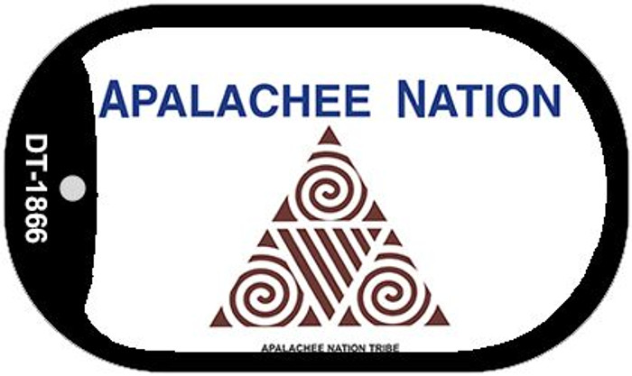 Apalachee Nation Tribe Wholesale Novelty Metal Dog Tag Necklace DT-1866