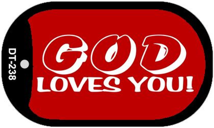 God Loves You Wholesale Novelty Metal Dog Tag Necklace DT-238