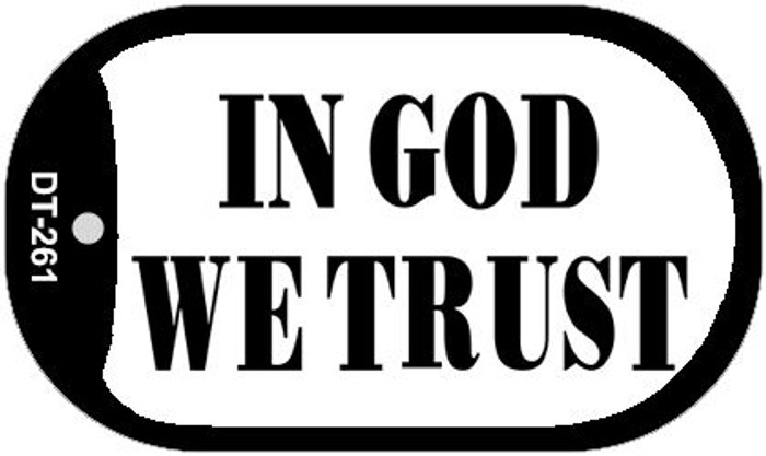 In God We Trust Wholesale Novelty Metal Dog Tag Necklace DT-261