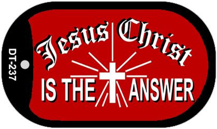 Jesus Christ Answer Wholesale Novelty Metal Dog Tag Necklace DT-237