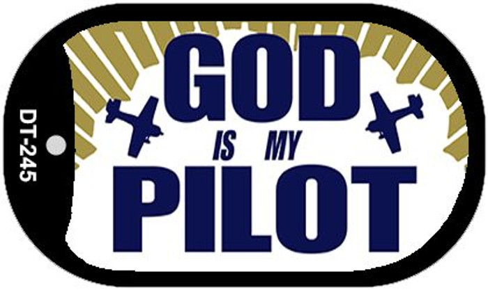 God Is My Pilot Wholesale Novelty Metal Dog Tag Necklace DT-245