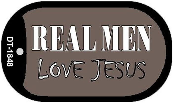 Real Men Love Jesus Wholesale Novelty Metal Dog Tag Necklace DT-1848