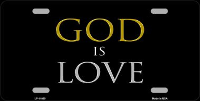 God Is Love Wholesale Novelty Metal License Plate LP-11889