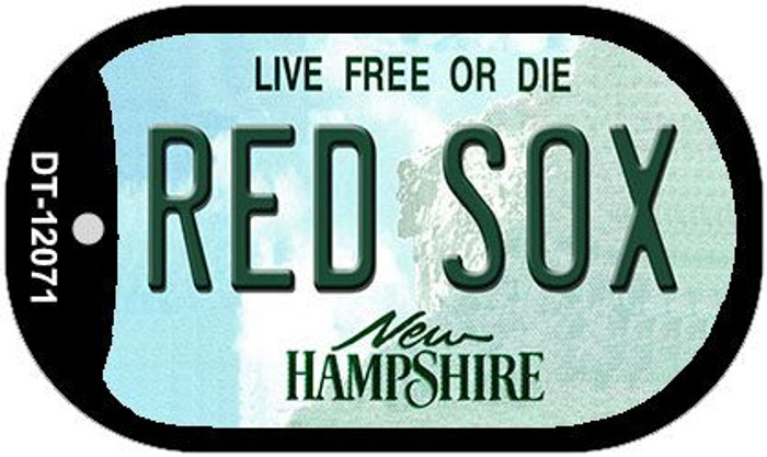 Red Sox New Hampshire State Wholesale Novelty Metal Dog Tag Necklace DT-12071
