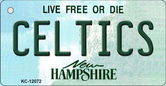Celtics New Hampshire State Wholesale Novelty Metal Key Chain KC-12072