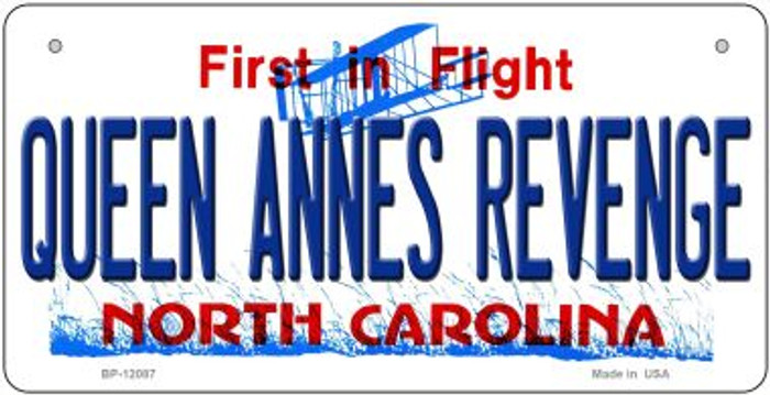 Queen Annes Revenge North Carolina State Wholesale Novelty Metal Bicycle Plate BP-12087