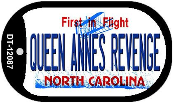 Queen Annes Revenge North Carolina State Wholesale Novelty Metal Dog Tag Necklace DT-12087