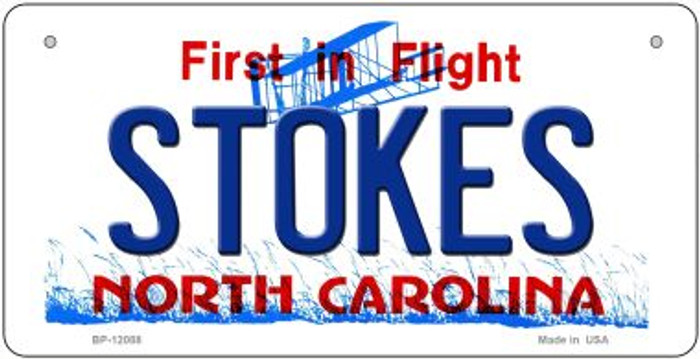 Stokes North Carolina State Wholesale Novelty Metal Bicycle Plate BP-12088