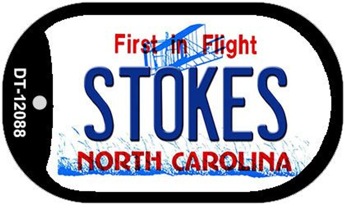 Stokes North Carolina State Wholesale Novelty Metal Dog Tag Necklace DT-12088