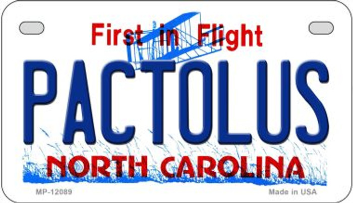 Pactolus North Carolina State Wholesale Novelty Metal Motorcycle Plate MP-12089