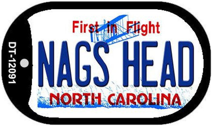 Nags Head North Carolina State Wholesale Novelty Metal Dog Tag Necklace DT-12091
