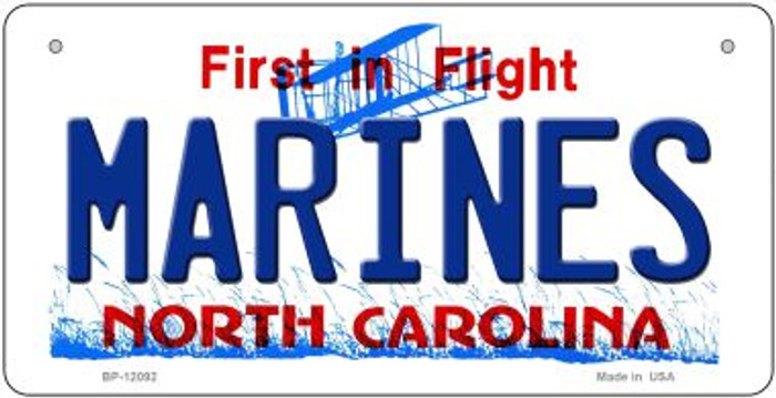 Marines North Carolina State Wholesale Novelty Metal Bicycle Plate BP-12092