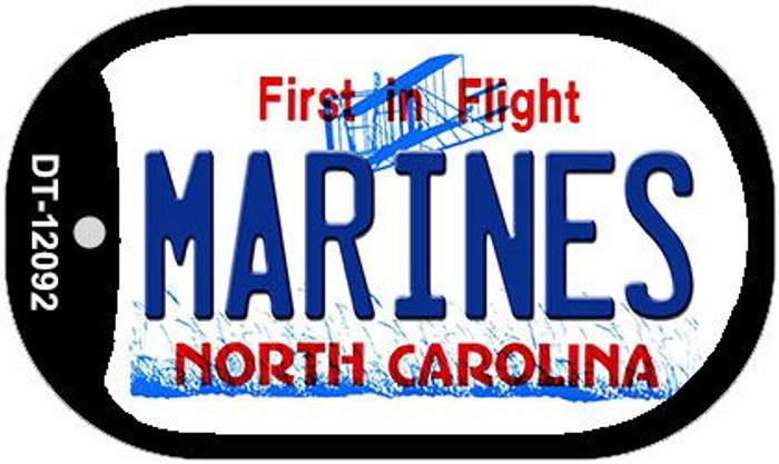 Marines North Carolina State Wholesale Novelty Metal Dog Tag Necklace DT-12092