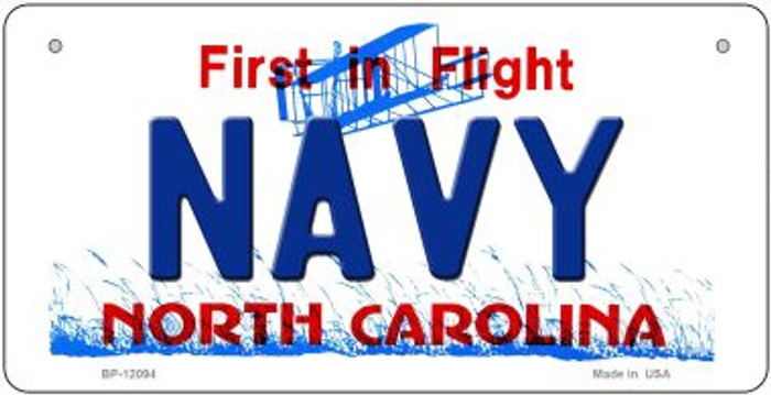 Navy North Carolina State Wholesale Novelty Metal Bicycle Plate BP-12094