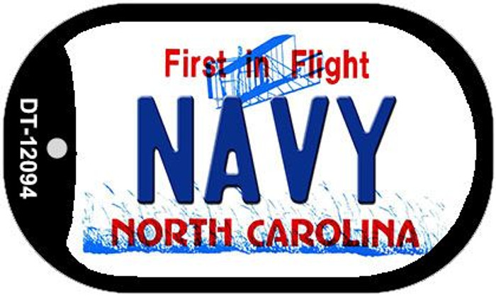 Navy North Carolina State Wholesale Novelty Metal Dog Tag Necklace DT-12094