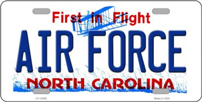Air Force North Carolina State Wholesale Novelty Metal License Plate LP-12096