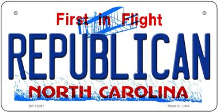 Republican North Carolina State Wholesale Novelty Metal Bicycle Plate BP-12097