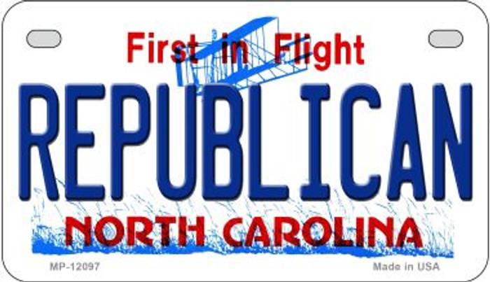 Republican North Carolina State Wholesale Novelty Metal Motorcycle Plate MP-12097