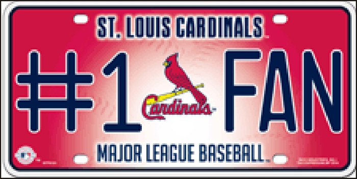 Cardinals Fan Wholesale Metal Novelty License Plate LP-648