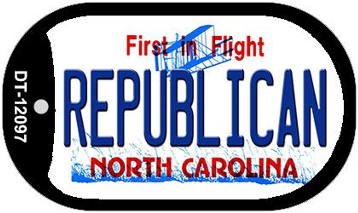 Republican North Carolina State Wholesale Novelty Metal Dog Tag Necklace DT-12097