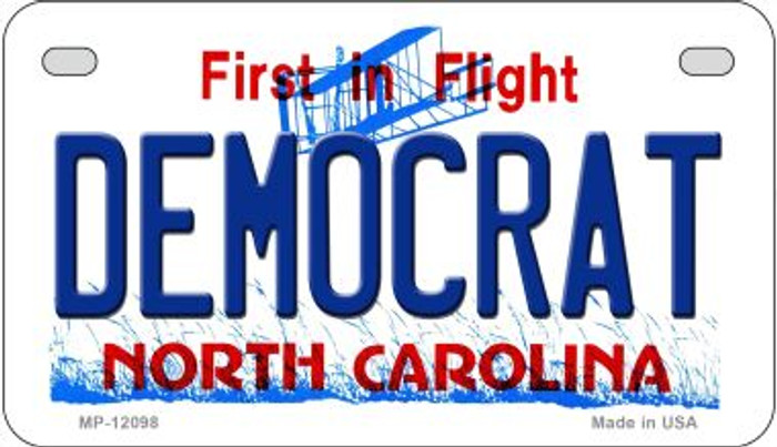 Democrat North Carolina State Wholesale Novelty Metal Motorcycle Plate MP-12098
