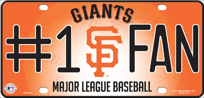 Giants Fan Wholesale Metal Novelty License Plate LP-649