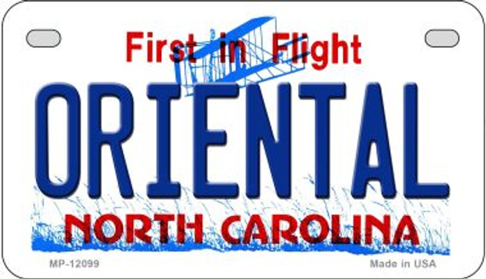 Oriental North Carolina State Wholesale Novelty Metal Motorcycle Plate MP-12099