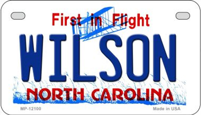 Wilson North Carolina State Wholesale Novelty Metal Motorcycle Plate MP-12100